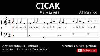 not balok cicak - tutorial piano tingkat 1 - pencipta at mahmud