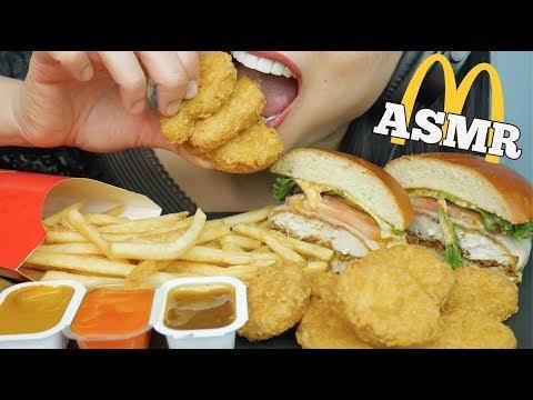 ASMR McDonalds (Chicken Nuggets + Burger) EATING SOUNDS NO TALKING | SAS-ASMR