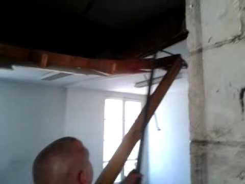 comment démolir un plafond avec fabryzyo - youtube