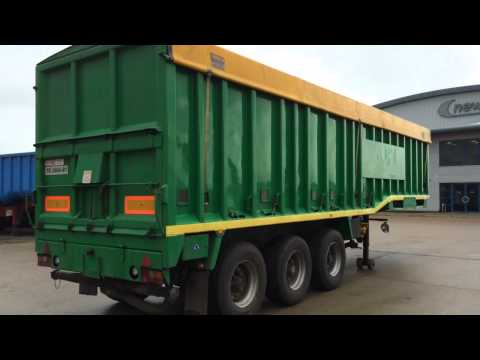 1996 Crane Wilcox  Blower Step Frame Tipper Trailer For Sale