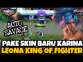 AUTO SAVAGE PAKE SKIN BARU KARINA LEONA!! REVIEW SKIN KARINA KING OF FIGHTER - Mobile Legends