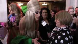 "Alaska, Katya, Michelle Visage, & Trixie Mattel With Damiana at the ""Drag Race"" Season 7 Finale"