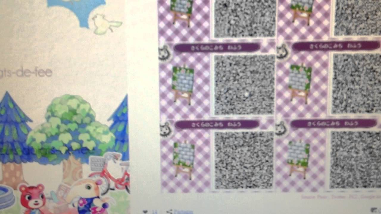 Motifs Sol Acnl Tuto Animal Crossing New Leaf : Comment Avoir Des Motif Qr