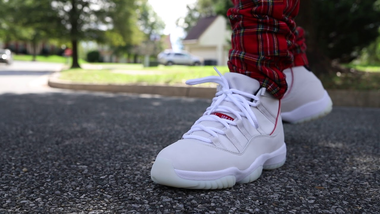 "f8cfd7c5572cf0 Air Jordan 11 ""Platinum Tint"" (Dope or Nope) + On Foot - YouTube"