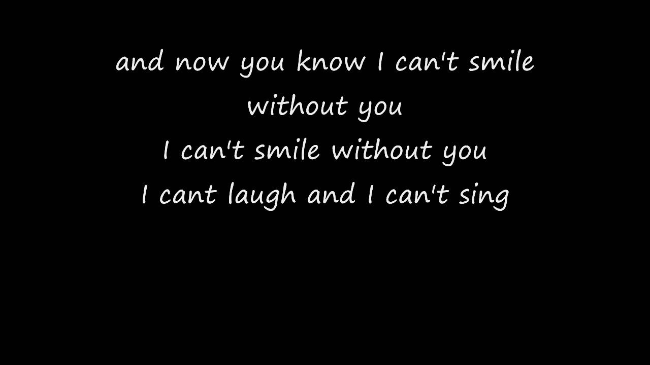 Can t be without you lyrics