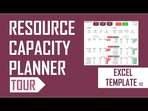 Resource Capacity Planner - Excel Template - v3 - Tour