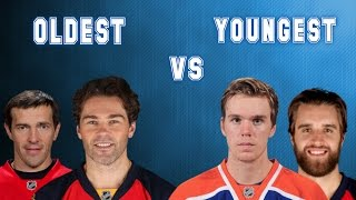 Oldest NHL Players vs The Youngest NHL Players NHL 16