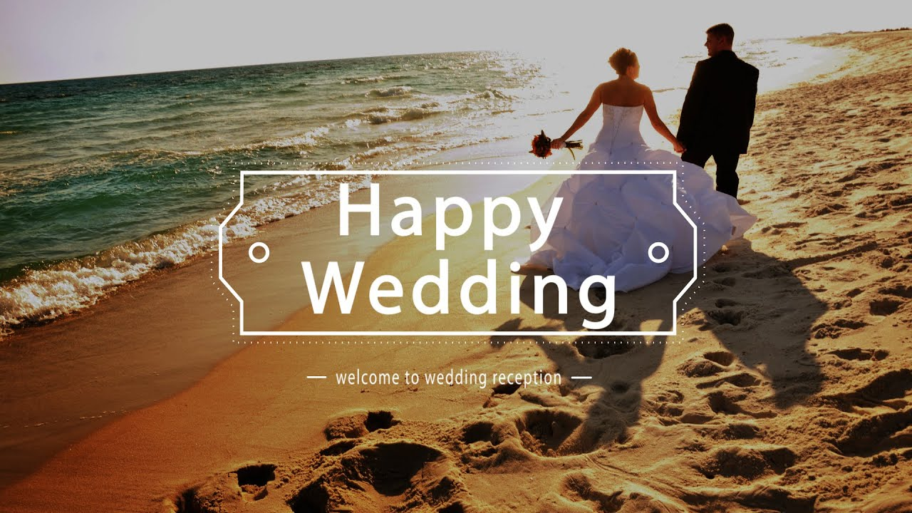 [HD]無料動画・背景素材 結婚式プロフィールムービー【Happy Wedding】 (笑ウエディングビデオ) , YouTube