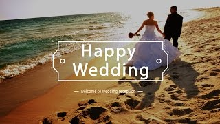 Repeat youtube video [HD]無料動画・背景素材 結婚式プロフィールムービー【Happy Wedding】 (笑ウエディングビデオ)