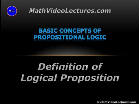 Definition of Logical Proposition