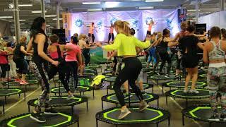 SkyJumping батут для фитнеса (official video / официальное видео)
