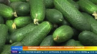 Ввозимые овощи и фрукты проверят прямо на границе