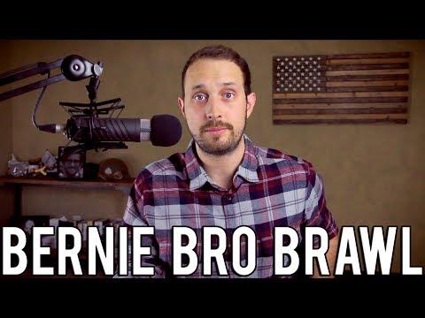 Bernie Bros Brawl at Denver Rally | White Savior Says Black Man Is Insensitive to Black Lives