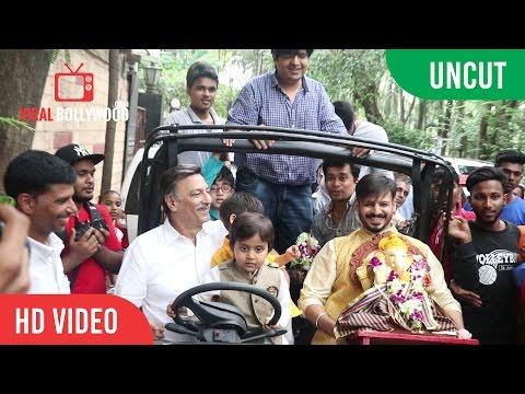 Vivek Oberoi Ganpati Visarjan With Family Full Coverage