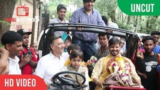 Vivek Oberoi Ganpati Visarjan With Family Full Coverage