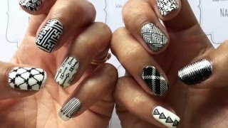 """""""Monochrome Mayhem Nails"""" Stamped with Hehe, Born Pretty, Bundle Monster and MoYou London"""