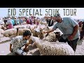 🇲🇦 Huge Open-Air Market Tour / Eid Al Adha In Morocco / Aid Al Adha 2019 Maroc/ 모로코