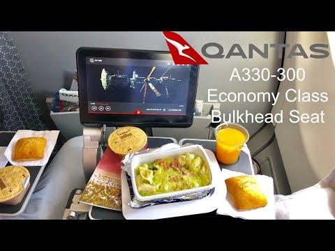 QANTAS A330-300 Bulkhead Seat: Melbourne to Hong Kong (QF29 Economy Class)