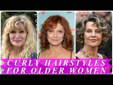 Perfect curly hairstyles for older women
