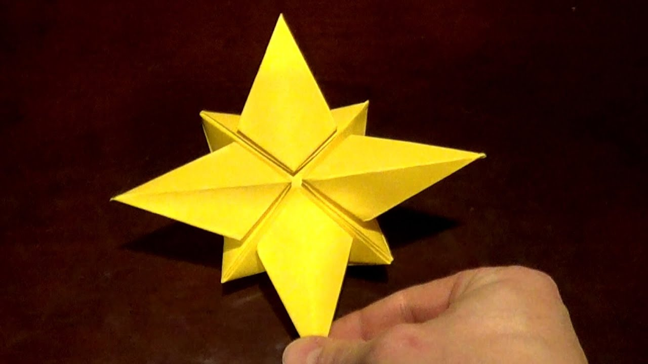 North Star Origami Tutorial - How to make an Origami North ... - photo#22