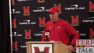 Maryland Football DJ Durkin Presser 11 25 17 after Penn State