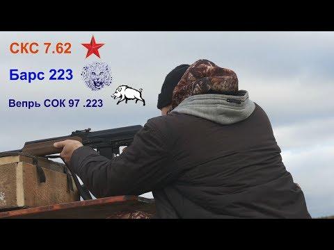 Охота в Кушве -  Карабины СКС 7.62 , Барс 223 ,  Вепрь СОК 97 .223 НЕ ОБЗОРНОЕ ВИДЕО