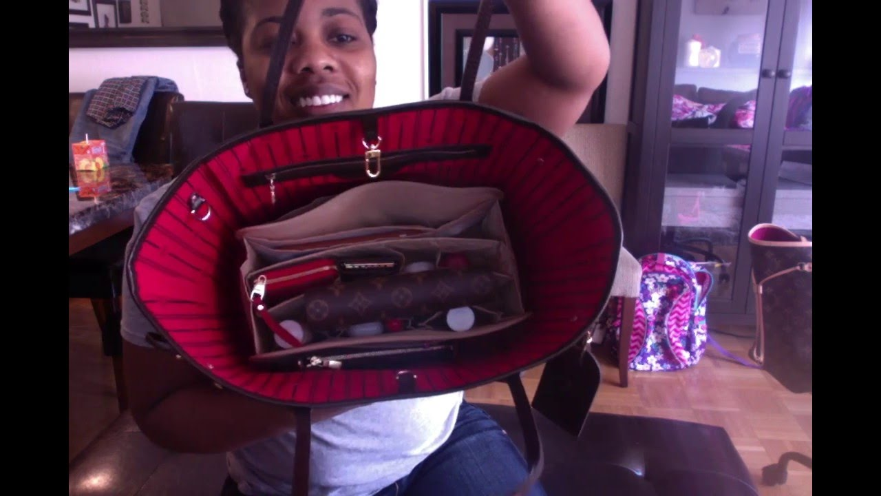 CloverSac Bag or Purse organizer Louis Vuitton Neverfull MM unboxing and  review 94437e5aea657