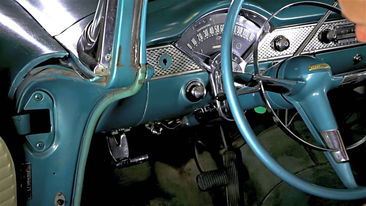 how to remove replace the headlight switch in your 1955 1956 chevy danchuk usa [ 1280 x 720 Pixel ]