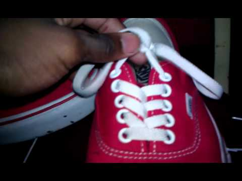 Basic Vans Authentic Lacing Tutorial Very Brief Youtube