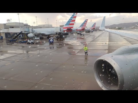 American Airlines Boeing 757-200 [N938UW] Push Back, Start Up, And Takeoff From PHX