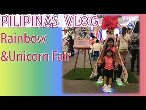 Rainbow & Unicorn fair at Eastwood city metro Manila Philippines