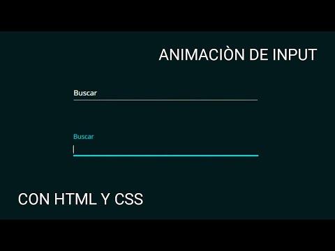 Animación A Un Input Con Html Y Css