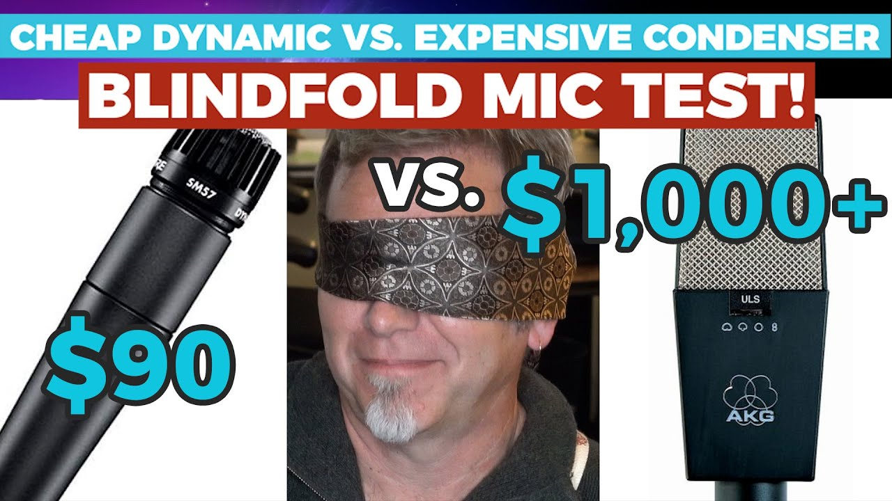 Can a $90 mic sound like a $1000 mic? — BLINDFOLD TEST — Shure SM57 vs. AKG C-414