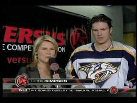 Jason Arnott Interview First Intermission vs Avs Jan 30 2007