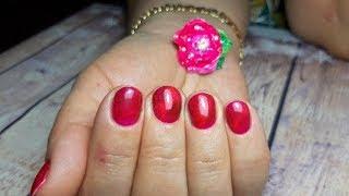 Дизайн ногтей от и до/Кошачий глаз на ногтях/Маникюр витражным гель-лаком