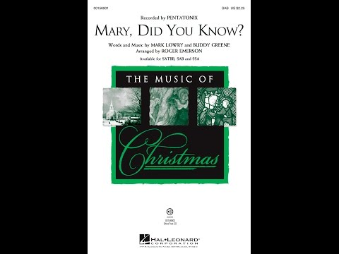 Mary, Did You Know? (SAB) - Arranged by Roger Emerson