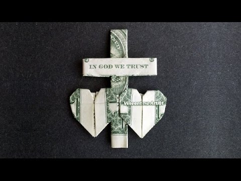 dollar bill origami heart instructions