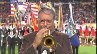 Arturo Sandoval, Trumpet, National Anthem 1/1/09 Orange Bowl