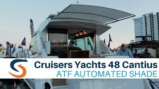 Cruisers Yachts 48 Cantius with SureShade Automated Shade