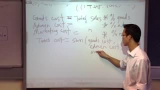 Profit Prediction Spreadsheet: Calculations