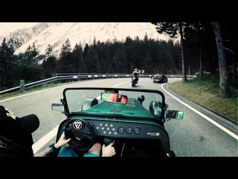 Caterham 485 on Grimselpass //pure roads