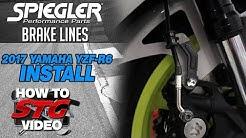2017-2018 Yamaha R6 Spiegler ABS Brake Line Kit Install | SportbikeTrackGear.com