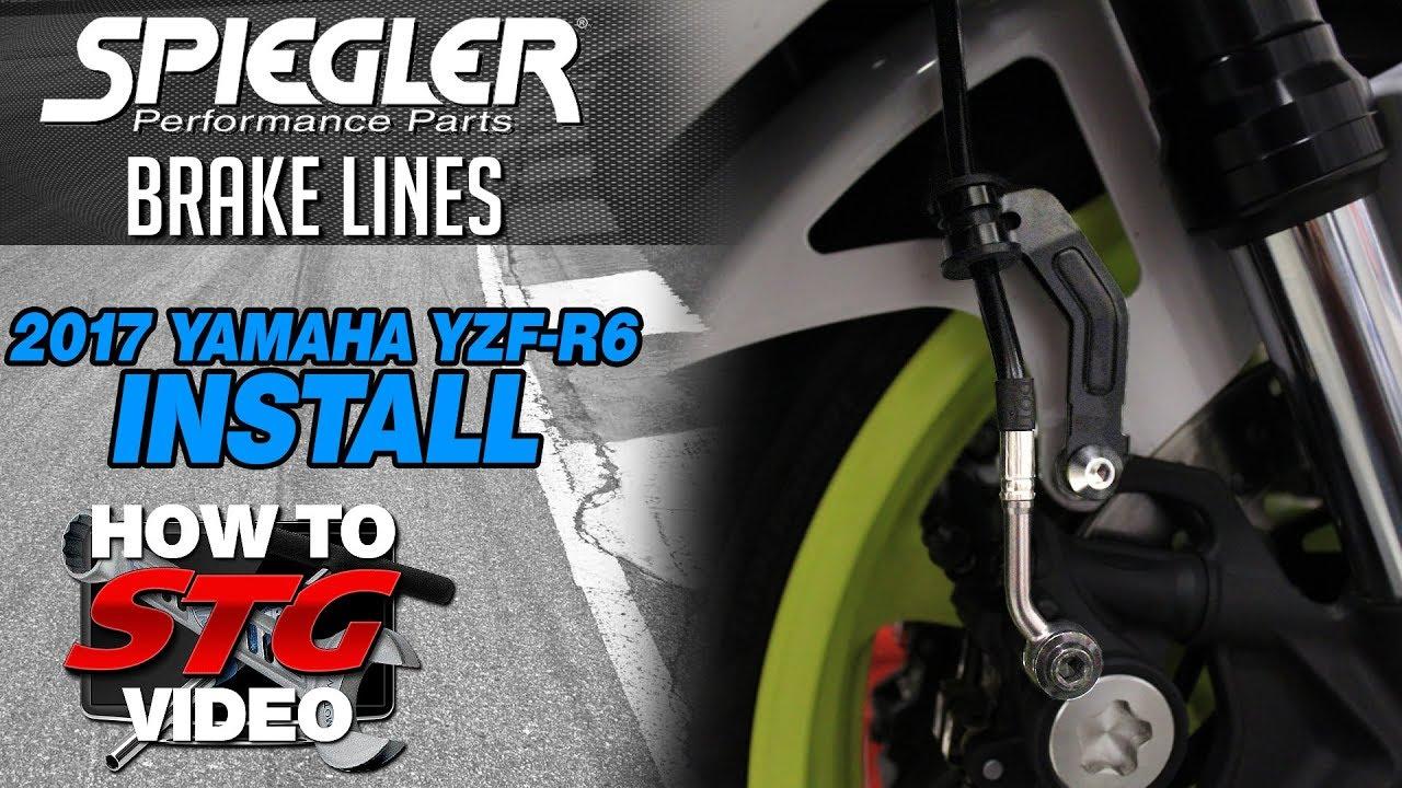 hight resolution of 2017 2018 yamaha r6 spiegler abs brake line kit install sportbiketrackgear com