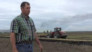 Rice planting prep work