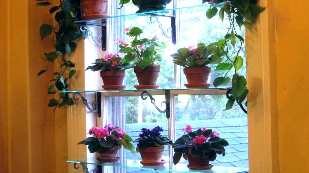 Оконные полки для цветов на окне, стеллаж, этажерка. - YouTube