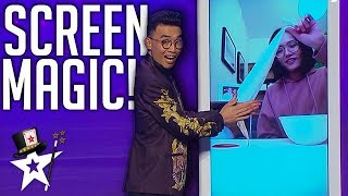 Magician Does Amazing Screen Magic With His Girlfriend At Home! | Magicians Got Talent
