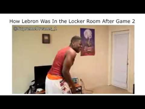 LeBron after game 2 loss...lol