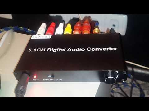 5.1CH цифровой аудио конвертер декодер для домашнего кинотеатра