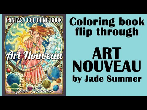 'art-nouveau'-by-jade-summer.-coloring-book-flip-through