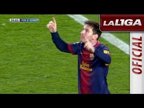Gol de Messi (2-0) en el FC Barcelona - Rayo Vallecano - HD